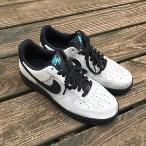 💍Silver sparkle💍Air Force one Nike shoes